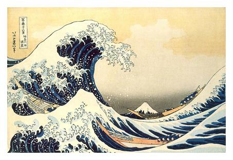 vague hokusai estampe