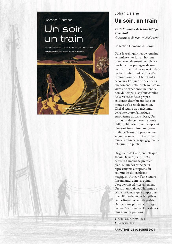 Un écrivain, un train, un soir
